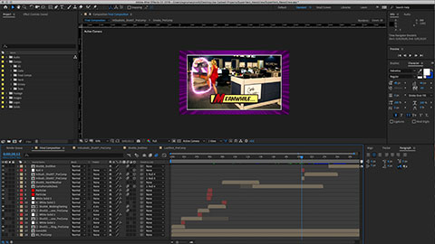 Super Hero News Crew Television Commercial Adobe After Effects Screenshot