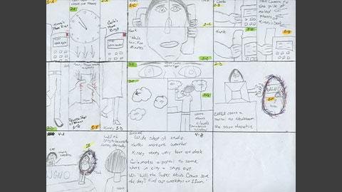 Super Hero Television Commercial Storyboard Image